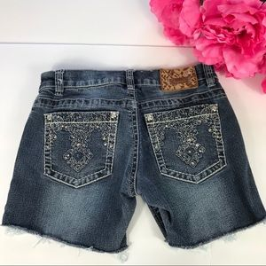 Shyanne denim shorts.
